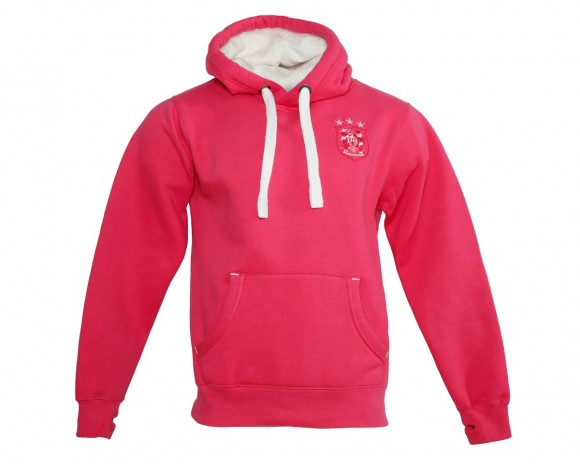 Ladies Pink Luxury Hoody
