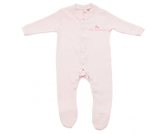 The Terriers Baby Pink Bodysuit