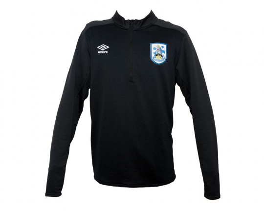 Umbro Adult Black Half Zip Top