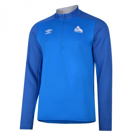 Umbro Adult Blue Half Zip Top