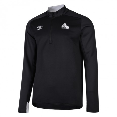 Umbro Child Black Half Zip Top