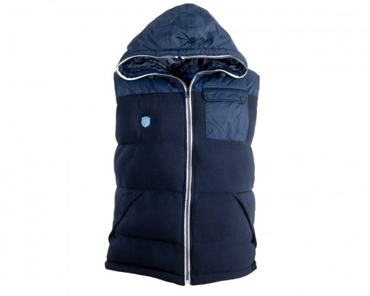 Pitch Navy Hooded Gilet