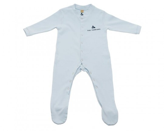 The Terriers Baby Blue Sleepsuit