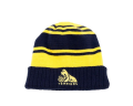 Adult Umbro Yellow and Navy Striped Beanie