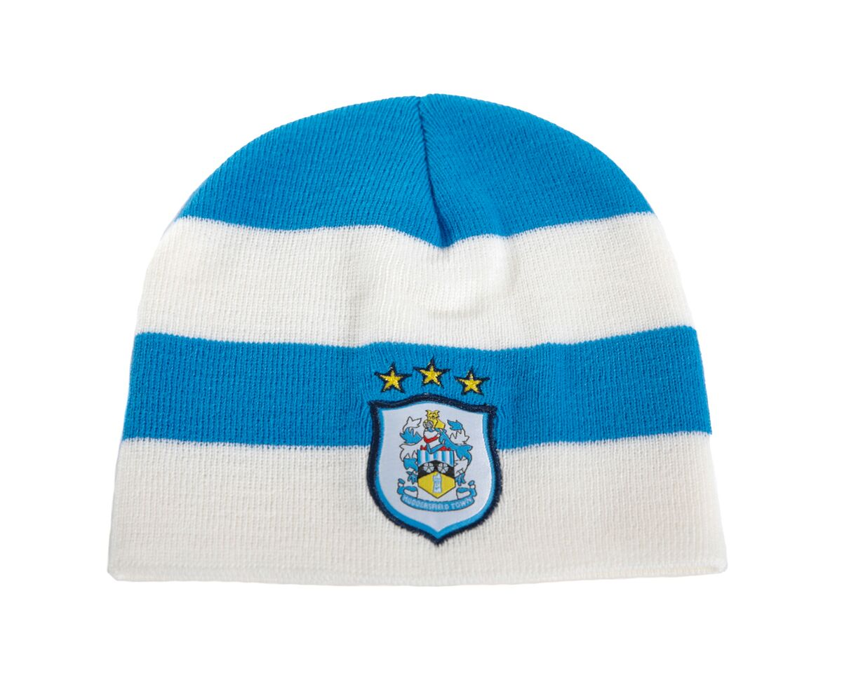 Blue and White Essential Bean Hat