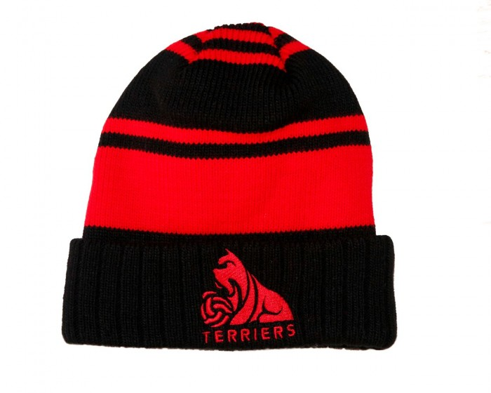 Adult Umbro Red and Black Striped Beanie