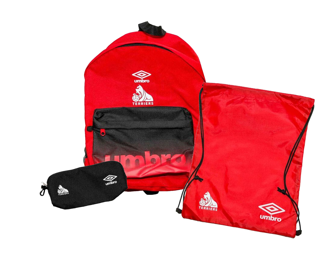 Umb Red Blk Backpack, Gymsack & Pencil Case Set