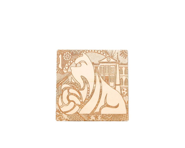 Terrier Set of 4 Wooden Coasters