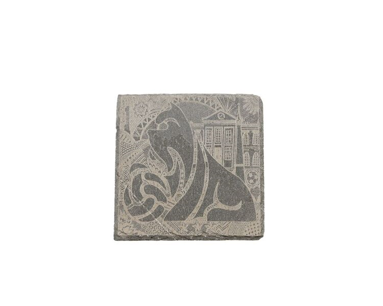Terrier Set of 4 Slate Coasters