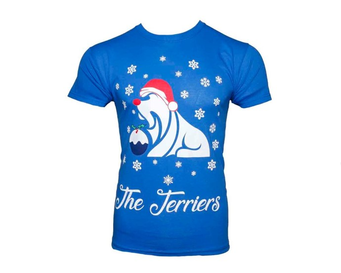 Terriers Adult Christmas TShirt