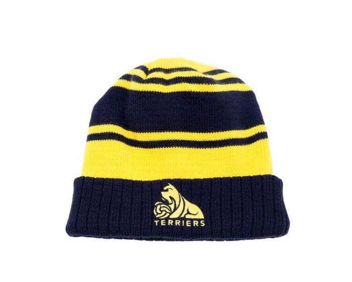 Child Umbro Yellow and Navy Striped Beanie