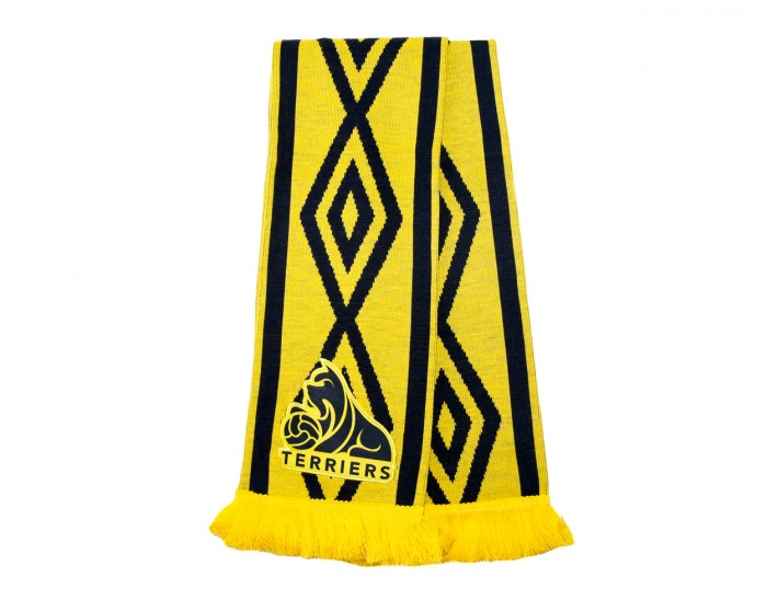 HTAFC Umbro Yellow/Navy Taped Scarf