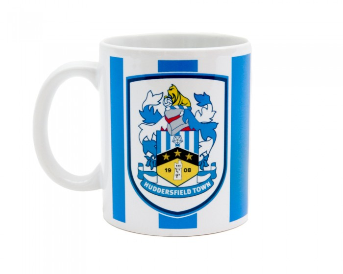 Full Colour Crest Striped Mug