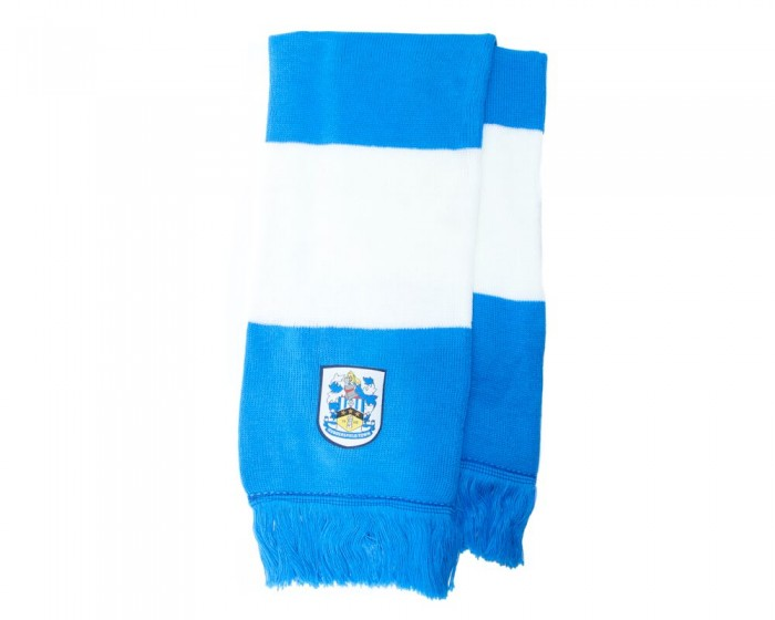 Crest Blue And White Bar Scarf