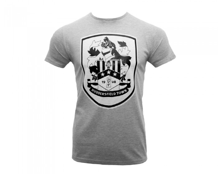 Adult Grey Large Crest Tshirt
