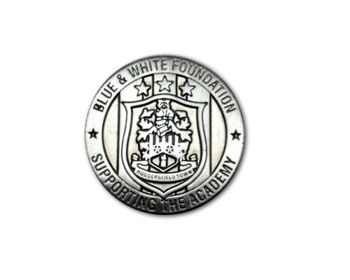 Blue and White Foundation Pinbadge